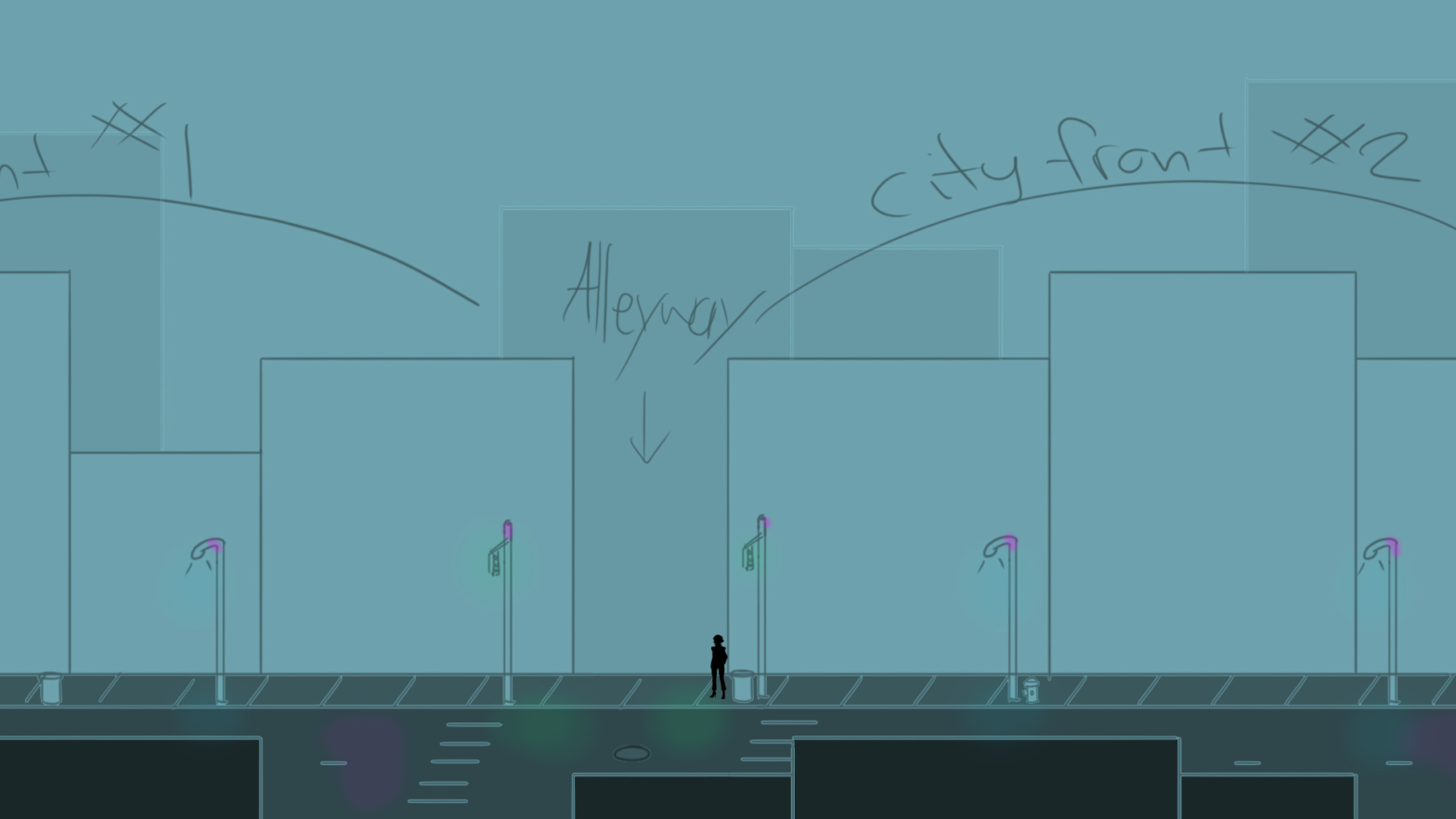 Environment Concept 3 : Street / City Fronts